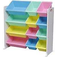 アイリスオーヤマ おもちゃ箱 キッズ トイハウスラック パステル 幅86.3×奥行34.8×高さ89.5cm KTHR-412