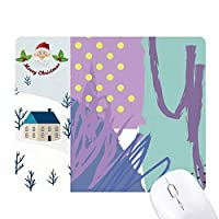 芸術のパターンの抽象的な植物の幸せ サンタクロース家屋ゴムのマウスパッド