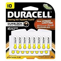 Duracell DA10B16ZM10 Easy Tab Hearing Aid Zinc Air Battery 10 Size 1.4V 95 mAh Capaci【並行輸入】