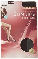 ATSUGI(アツギ) SLIM LINE (スリムライン)厚手 ふともも丈ストッキング クチゴムゆったり 〈3足セット〉 FT5550 480 ブラック 22~~25cm~