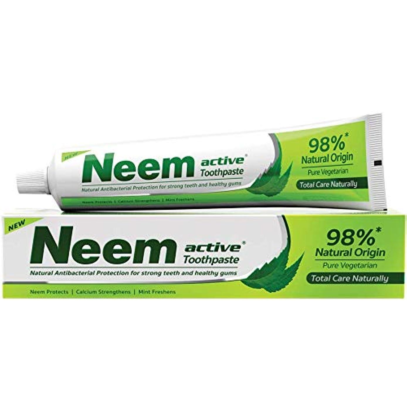 減衰の慈悲で罪Neem Active Toothpaste (Natural Protection for Strong Teeth & Healthy Gums) by Henkel