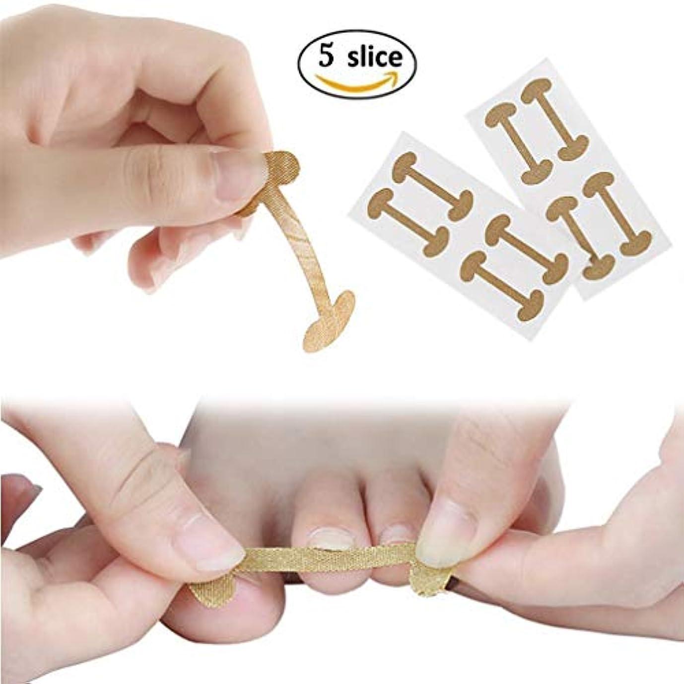 発明サラミ印をつける陥入爪の矯正パッチ、20 PCS物理的な矯正弾性綿接着剤パッチの足指の爪ペディキュアツール、湾曲した足の爪ブレース厚いパロニキア矯正治療を回復