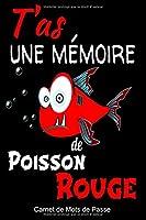 T'as une mémoire de Poisson Rouge: Carnet de mots de passe-Repertoire alphabétique de vos identifiants, adresse email, courriel, codes secrets, nom d'utilisateur, sites internet, 105 pages, carnet A5 editeur: Carnet Mots