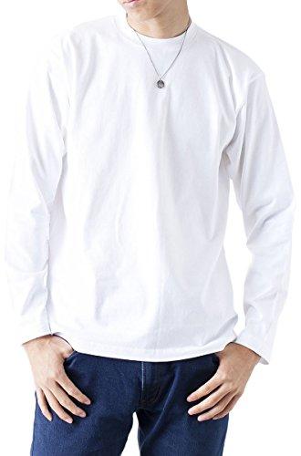 ティーシャツドットエスティー 長袖Tシャツ 長袖 無地 6.2oz メンズ ホワイト L