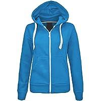 Janisramone Kids Girls & Boys Unisex New Plain Fleece Zip Up Hoodie Jacket Long Sleeve Sweatshirt Coat