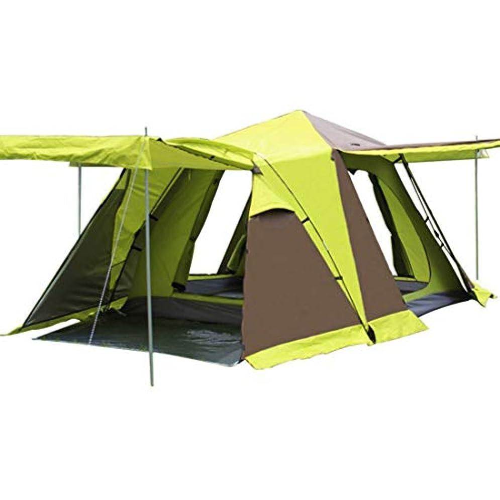 緯度薄汚いひいきにするスノースカートの四方屋根の自動キャンプの屋外のMHKBD-JPの4ドアのドアキャンプテント キャンプテント (色 : オレンジ, サイズ : 3-4P)