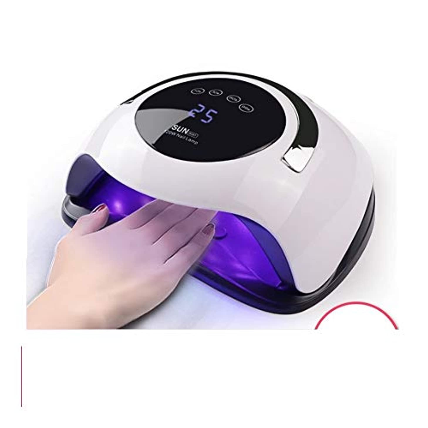 アカデミーホスト気になるLittleCat 120Wライトセラピー機ドライヤーBQ5Tスマートセンサプラスチックネイルポリッシュ光線療法ライト光線療法ライトローストツール (色 : American standard flat plug)