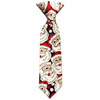 Jacob Alexander Toddler Boys' Jolly Santa 8 inch Clip-On Neck Tie