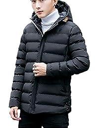 [ヴォンヴァーグ] ダウン コート ジャケット フード 付き 無地 防寒 暖かい カジュアル ショート丈 アウター メンズ
