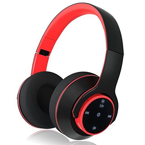 MEGICOT Bluetoothヘッドホン タッチセンサー操作 microSDカード対応 有線・無線兼用 マイク付き ハンズフリー通話 折りたたみ式 ME-012