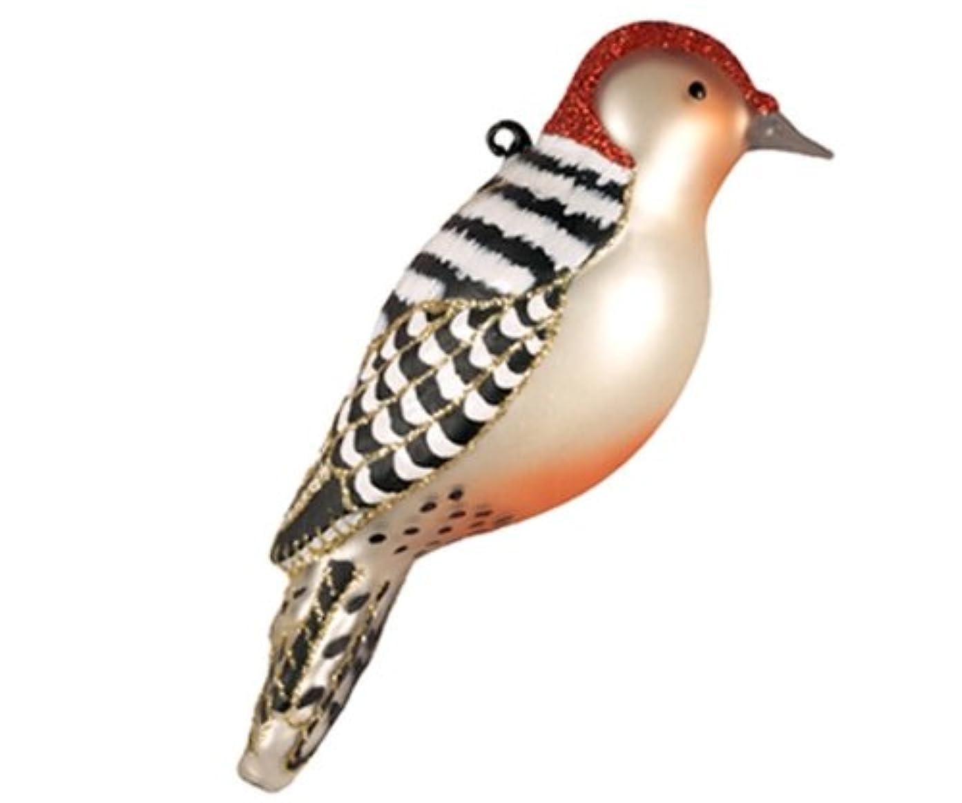 心臓パケット変えるCobane Studio COBANEC391 Red Bellied Woodpecker Ornament