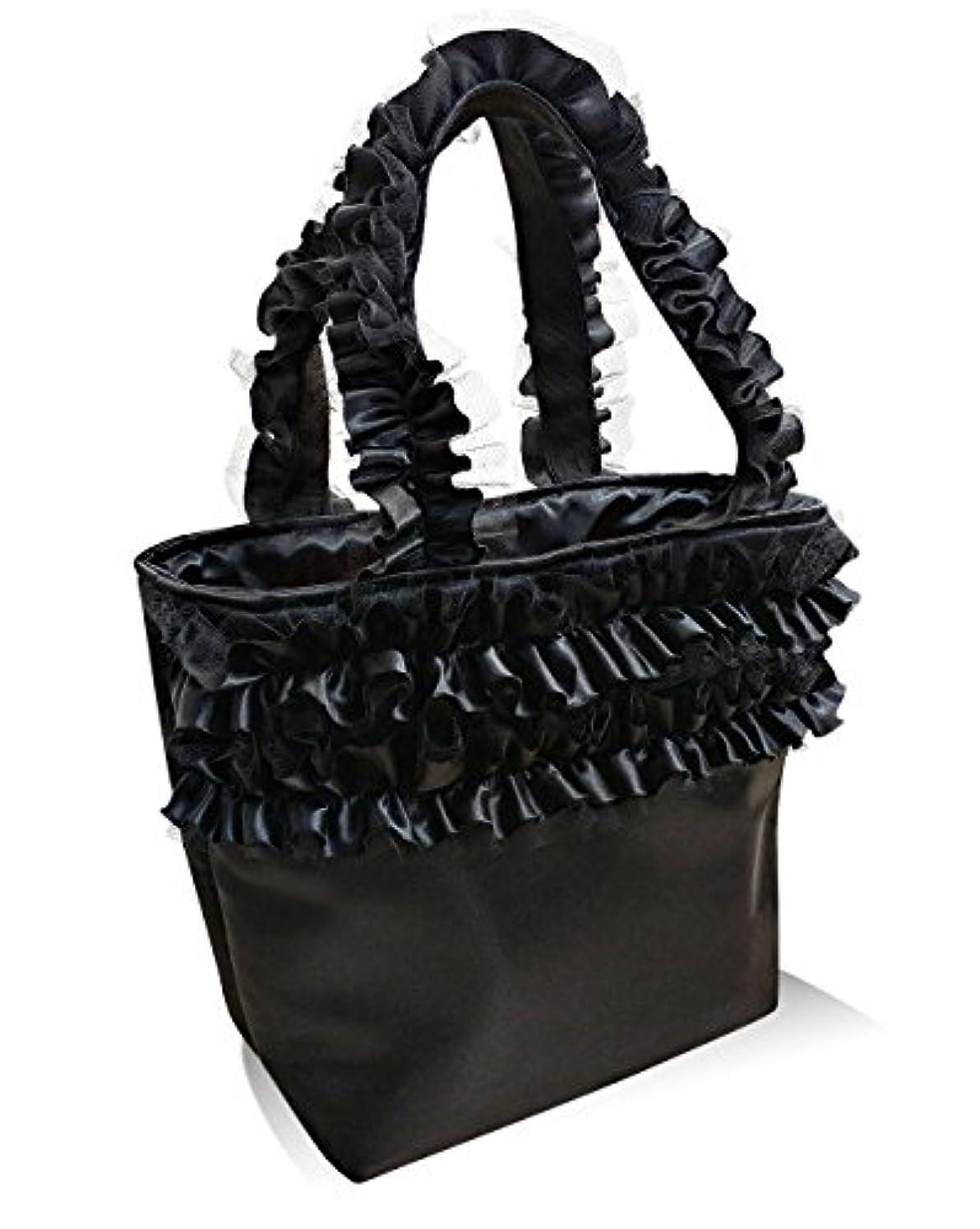 淡い付添人広々トートバッグ 通勤バッグ 通学バッグ レディースバッグ フリルハンドルバッグ バッグ おしゃれトート 日本製 ジュリエットトートバッグ