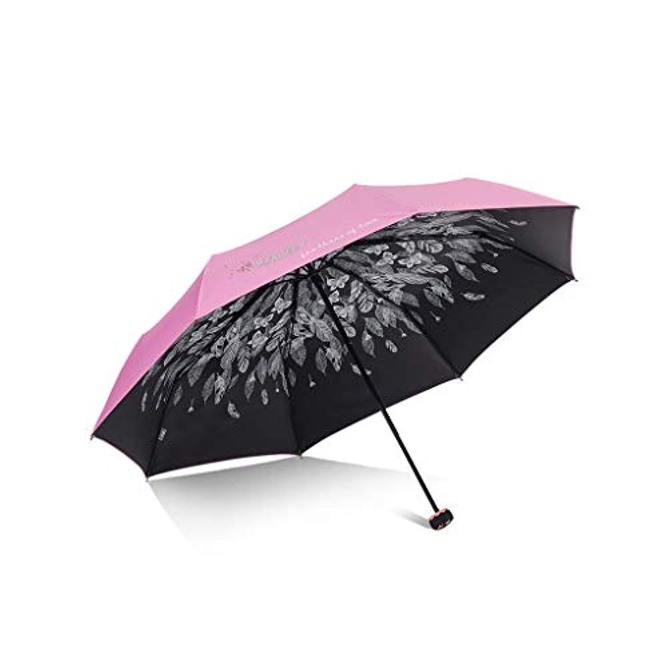 スカウトピン工業化するPy 傘日焼け止めUV傘折りたたみデュアルユース日傘ファッション小さな新鮮な印刷