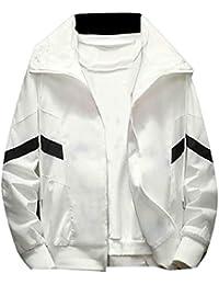 Sodossny-JP メンズカジュアルジャケット軽量ウインドブレーカーアスレチックトラックジャケット