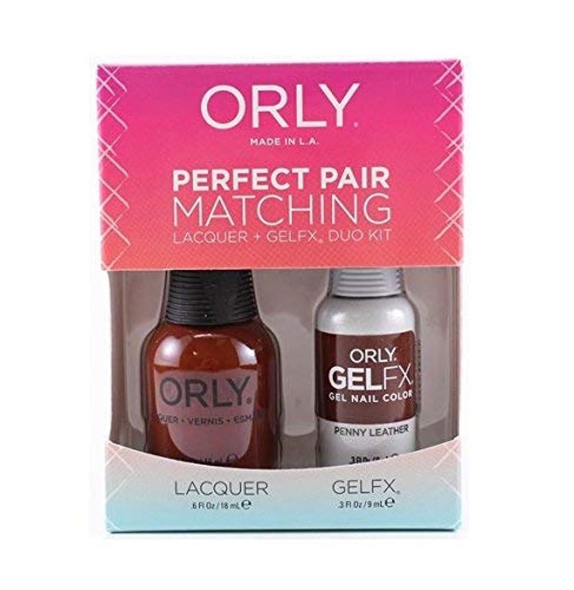 簡単な精査インスタントOrly - Perfect Pair Matching Lacquer+Gel FX Kit - Penny Leather - 0.6 oz/0.3 oz