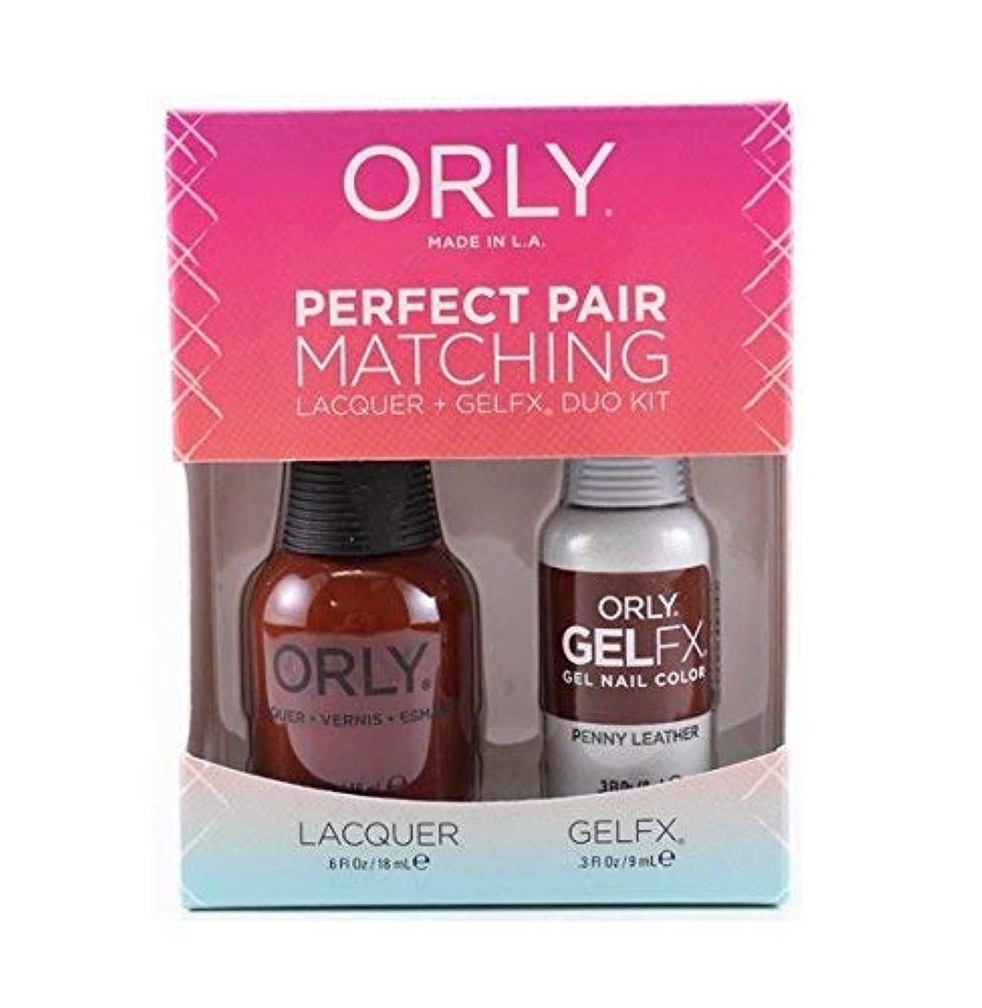 フィヨルド句読点ペルセウスOrly - Perfect Pair Matching Lacquer+Gel FX Kit - Penny Leather - 0.6 oz/0.3 oz