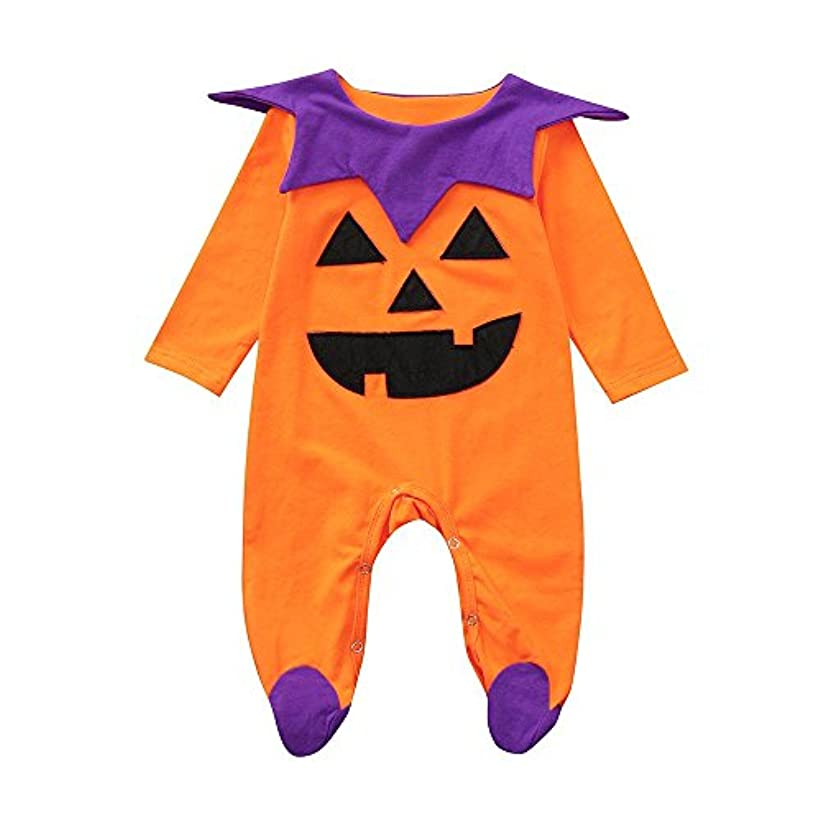 口当社プレーヤーBHKK 子供 幼児少年少女ロングスリーブロンパージャンプススーツハロウィーンの装飾衣装 6ヶ月 - 24ヶ月 12ヶ月
