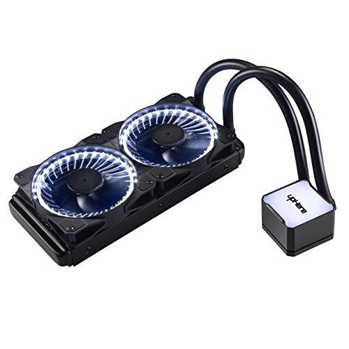 Novonest 水冷一体型CPUクーラー ラジエータ 水冷システム PWMファン超静音 LEDリング搭載 (AM4適用) (240mm白)【CC2404】