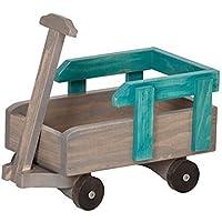 12 – 18インチ人形Pull Wagon再生アクセサリーUSAハンドメイド、ターコイズ&グレー