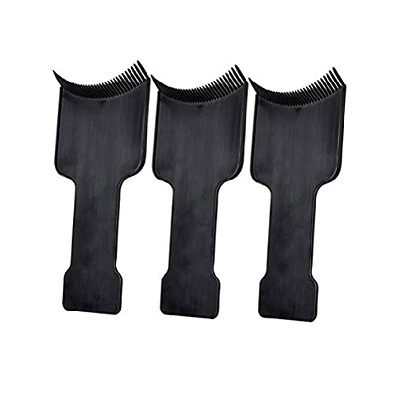 間欠伸誘惑するLurrose 3本ヘアカラーブラシヘアダイブラシヘアダイアプリケータヘアカラーブラシ(黒)