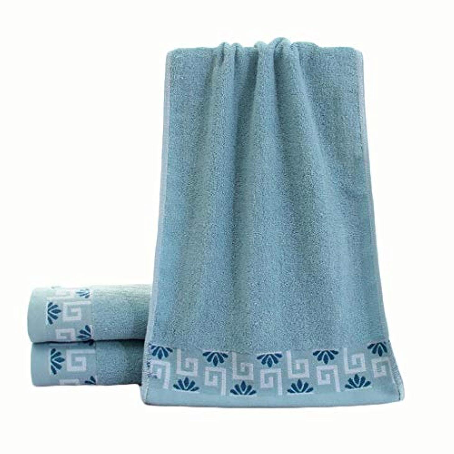 CXUNKK 2PCS / LOT家庭用綿肥厚ソフトタオル (Color : Blue)
