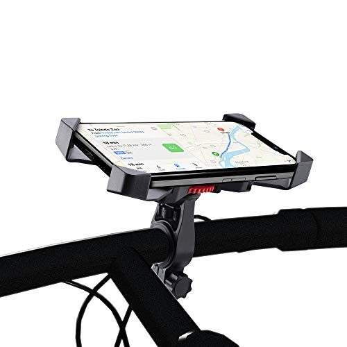 STREET CAT 自転車 スマホ ホルダー 振れ止め 脱落防止 自転車ホルダー ロードバイバイク スマートフォン GPSナビ 携帯 固定用 マウント スタンド 防水 iphone7 8 X xperia HUAWEI android 多機種対応 角度調整 360度回転 脱着簡単 強力な保護 (ブラック)