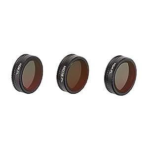 TELESIN DJI Mavic Air用レンズフィルター ND-PL減光+偏光フィルター 2 in 1 ND4-PL ND8-PL ND16-PLフィルター カメラ保護フィルター 光学ガラス 航空アルミフレーム djiアクセサリー (ND4/8/16-PL)