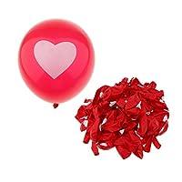 Fenteer 約100枚入 風船 バルーン ラテックスバルーン 装飾 ハート型 可愛い ロマンチック 全8タイプ選べる - #3