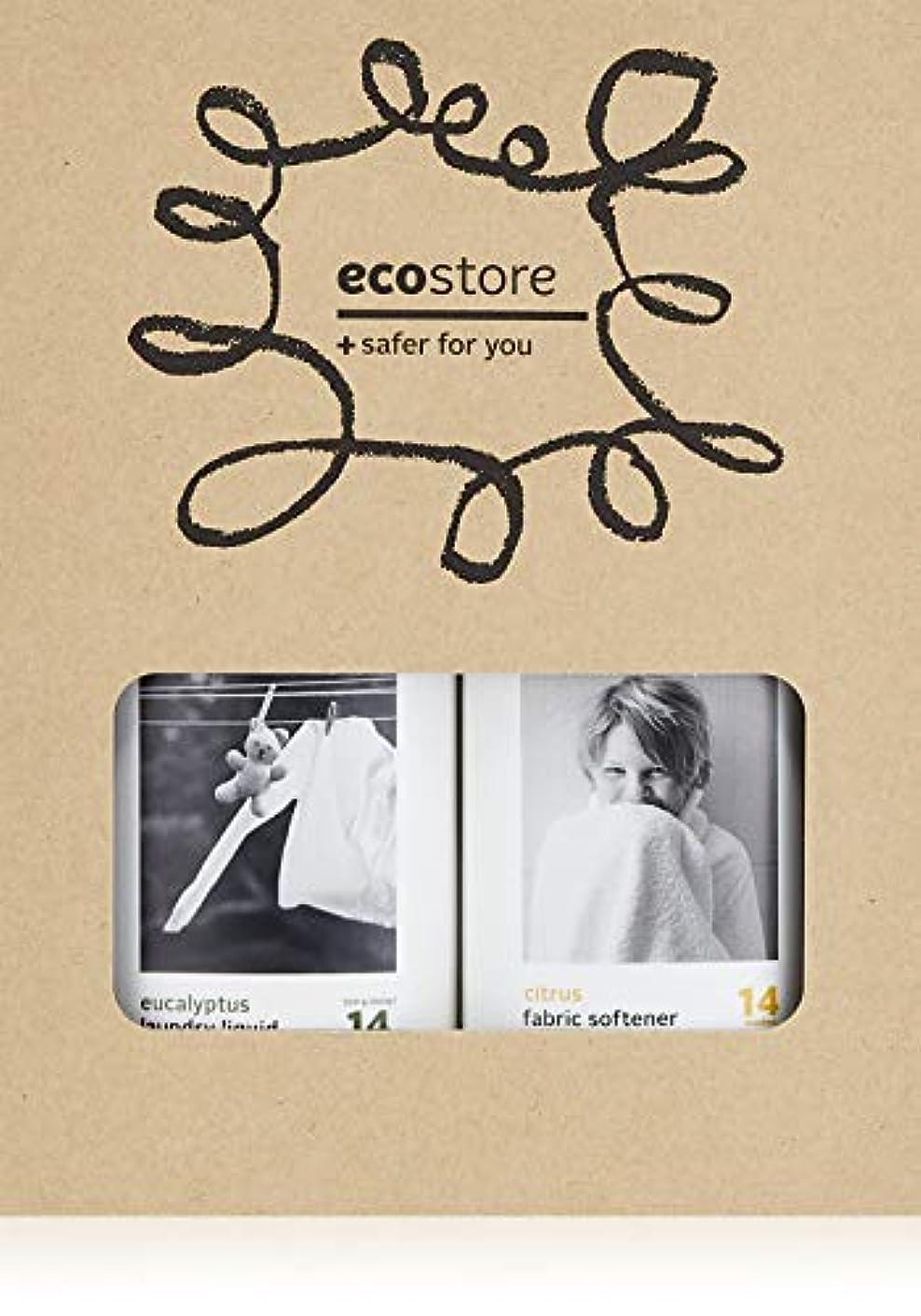 女優本物炭素ecostore(エコストア) ランドリーキット 【ランドリーリキッド?ファブリックソフナー】 BOXセット