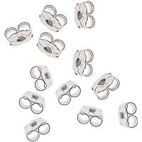 Beadaholique Sterling Silver Earring Backs (Earnuts) Heavy 5.5mm (12 Pieces) Earring Part