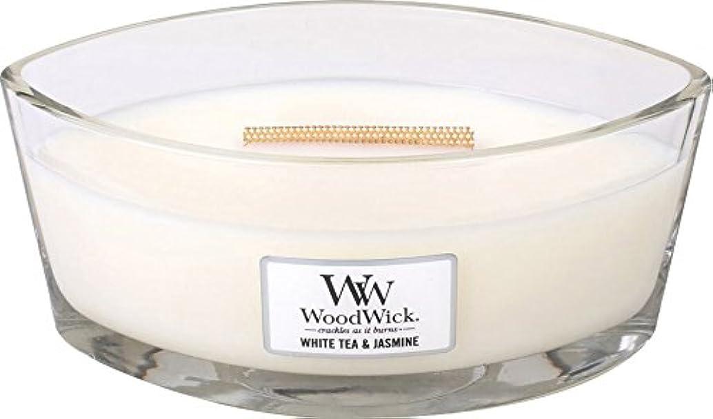 ブレース電信不実Wood Wick ハースウィックキャンドルL ホワイトティージャスミン