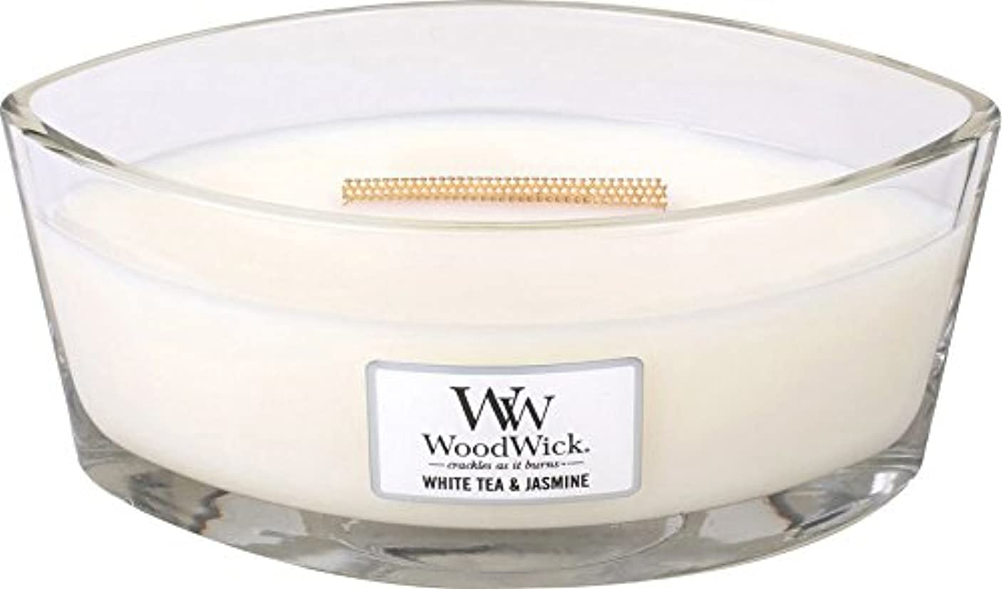 中に幾分遠洋のWood Wick ハースウィックキャンドルL ホワイトティージャスミン