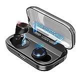 Bluetooth イヤホン ワイヤレス イヤホン 電池残量インジケーター付き イヤホン Hi-Fi 高音質 AAC対応 ブリージングライト 最新bluetooth 5.0+EDR搭載 完全ワイヤレスイヤホン 自動ペアリング (Pro-Black)