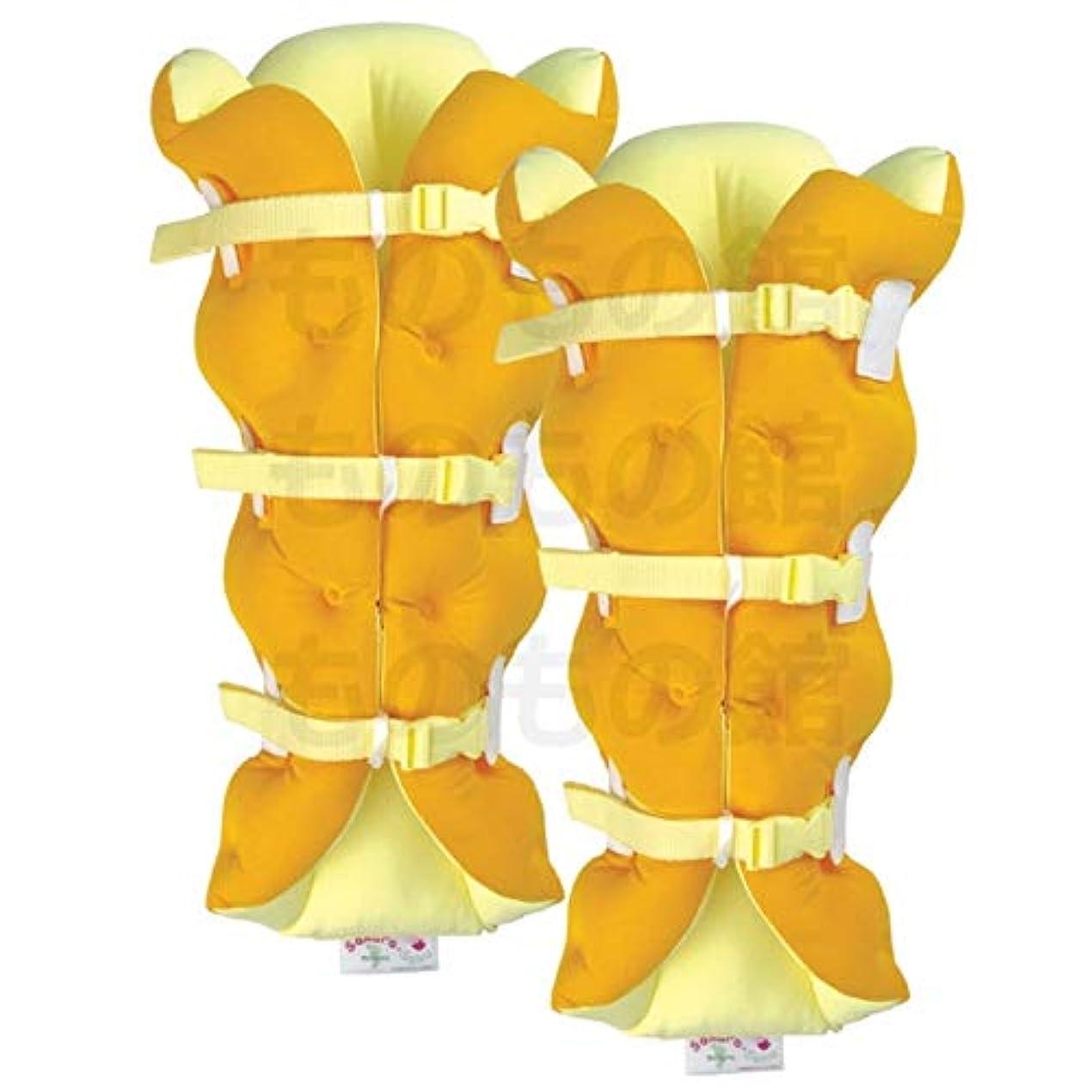 裏切り抽象化コンパニオンサクラ咲く足まくら EVOLUTION (両足セット) オレンジ