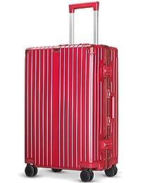 Langxj hj スーツケース アルミフレーム 耐衝撃 キャリーケース 機内持込 キャリーケース 軽量 キャリーバッグ 人気 大型 TSAロック付き 静音 旅行出張6021