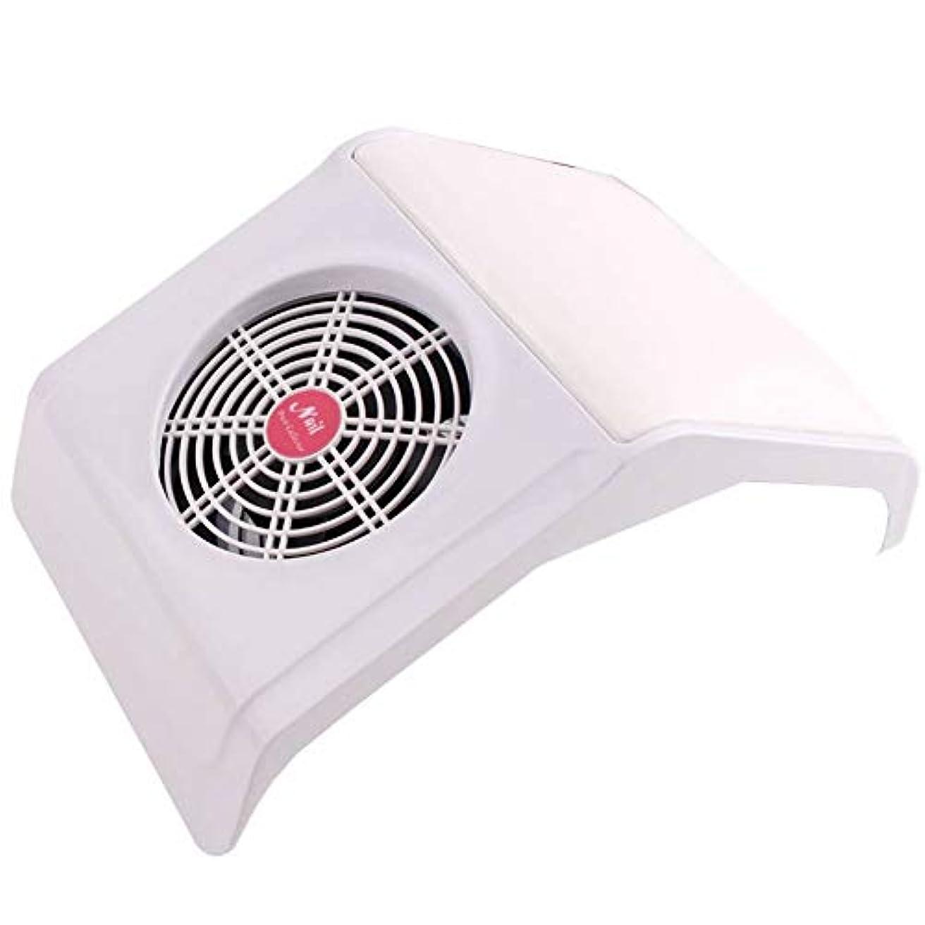 蒸発する内訳揺れる30Wネイルダストコレクター吸引ファンネイル掃除機2個付きほこりバッグを集めるマニキュア機械道具ネイルアートマニキュアサロンツール (Color : White)