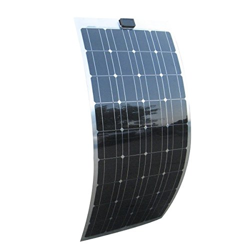 ECO-WORTHY ソーラーパネル専門屋出品 超薄型軽量 携帯型 単結晶フレキシブル ソーラーパネル チャージー