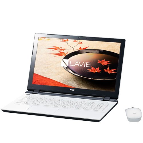 NEC LAVIE Smart NS(e) [Windows 10 Home 64bit/15.6インチ/Celeron Dual-Core 3215U(Broadwell)/メモリ4GB/HDD500GB/Microsoft Office Home and Business Premium] エクストラホワイト PC-SN17CJSA6-2