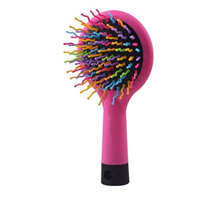 壊すバリケード漂流ロング、シック、カーリー、ウェーブ、ドライまたはダメージのある髪、髪の折れ落ちを軽減し、しわが寄ります。 モデリングツール (色 : ピンク)