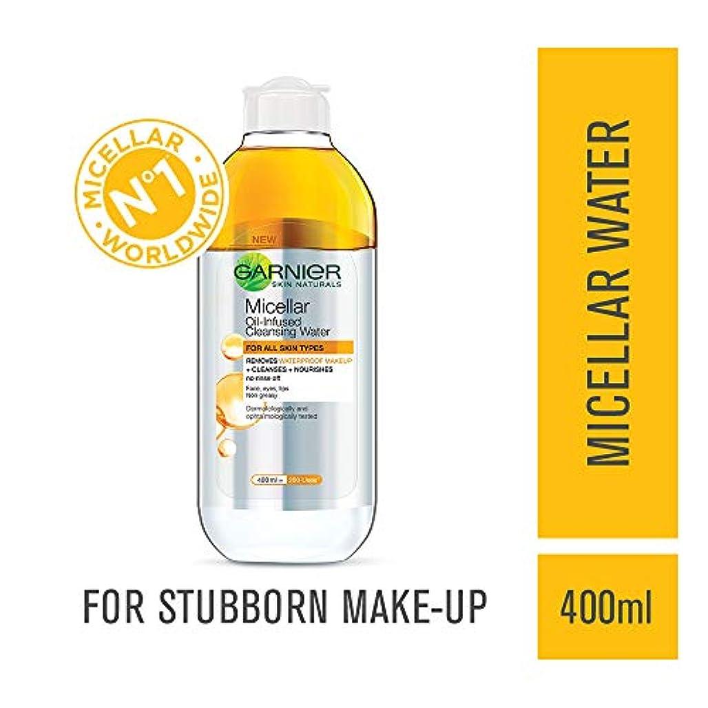 増幅する突進亡命Garnier Skin Naturals, Micellar Oil-Infused Cleansing Water, 400ml