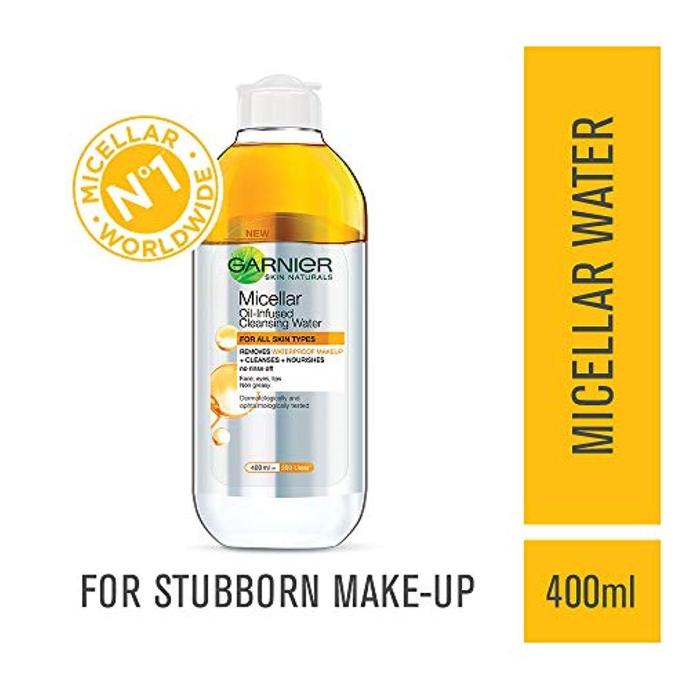 外科医のぞき見農民Garnier Skin Naturals, Micellar Oil-Infused Cleansing Water, 400ml