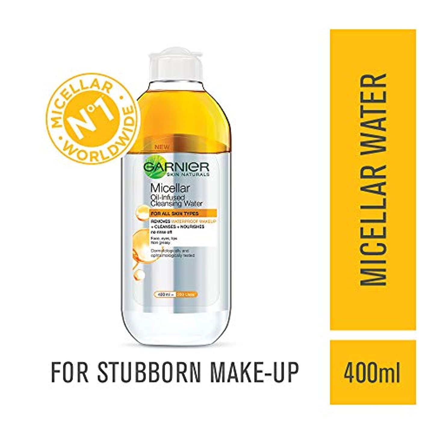 決してソファー宣教師Garnier Skin Naturals, Micellar Oil-Infused Cleansing Water, 400ml