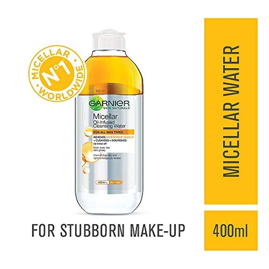 素朴な偽造別れるGarnier Skin Naturals, Micellar Oil-Infused Cleansing Water, 400ml