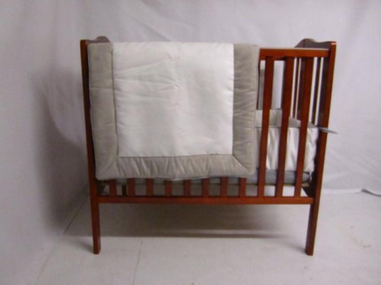 Baby Doll Bedding Zuma Mini Crib/ Port-A-Crib Bedding Set, Grey/White by BabyDoll Bedding