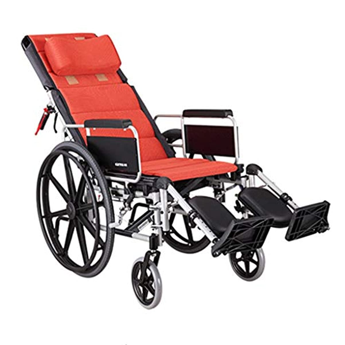 なぞらえるかまどストローク高齢者用車椅子折りたたみ式手すり、リアブレーキハンドル機能付き調整可能ペダルソフト手すり