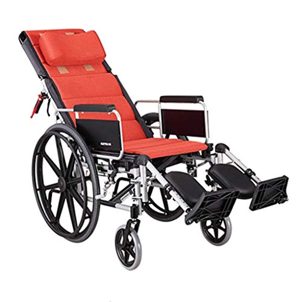 目を覚ます機械的に普通の高齢者用車椅子折りたたみ式手すり、リアブレーキハンドル機能付き調整可能ペダルソフト手すり