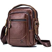 Men's Shoulder Bag, Popoti Handbag Crossbody Bag Leather Shopping School Backpack Messenger Carrying Bags Tote Wallet Multifunction Small Pocktes