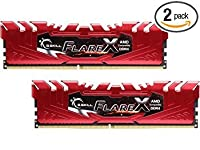 G.Skill 16GB(2 x 8GB)フレアXシリーズSDRAM DDR4 PC4-17000 2133MHz AMD X370 / B350 / A320メモリデスクトップメモリモデルF4-2133C15D-16GFXR