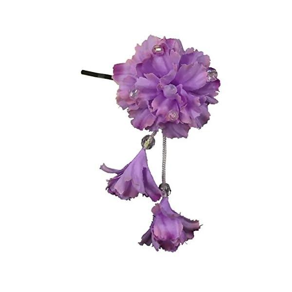 [粋花] Suika フラワーピン 1020 パープルの商品画像
