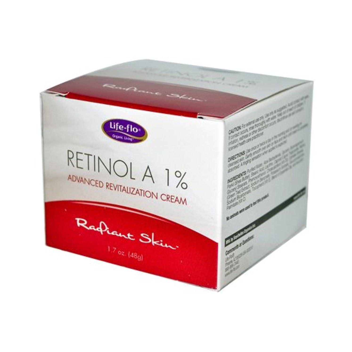 物質国旗実験的海外直送品 Life-Flo Retinol A 1% Advanced Revitalization Cream, 1.7 oz